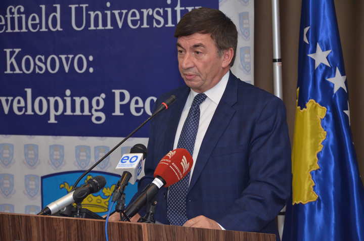 Mr. Arsim Bajrami, Minister of Education, Technology and Science of the Republic of Kosovo was also among keynote speakers and addressed his own welcome to CITY College alumni