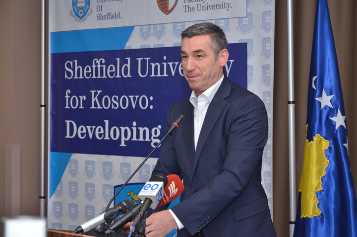 The event was opened by Mr. Kadri Veseli, President of the Assembly of the Republic of Kosovo - and University of Sheffield alumnus himself