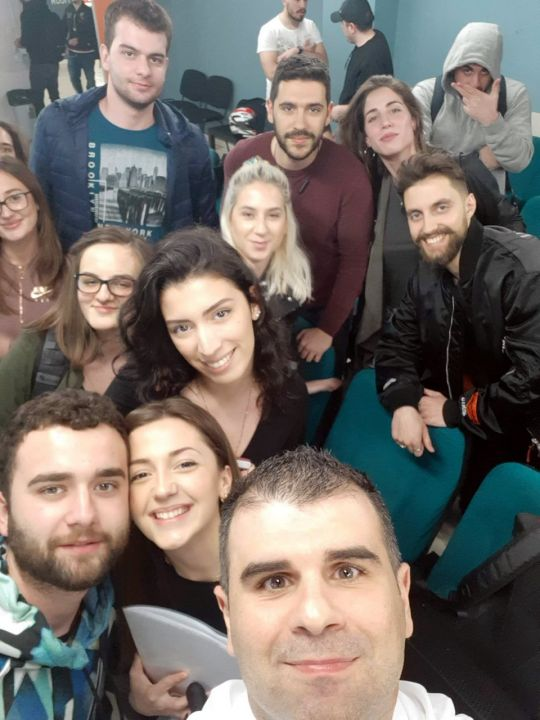 Dr Diamantidis took the opportunity to take a selfie with CITY College students
