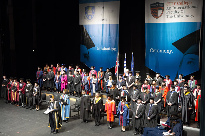 More than 200 Bachelors, Masters and PhD graduates from more than 20 countries, who completed their studies at the International Faculty, were presented their awards by the Vice-Chancellor of the University of Sheffield, Professor Sir Keith Burnett.
