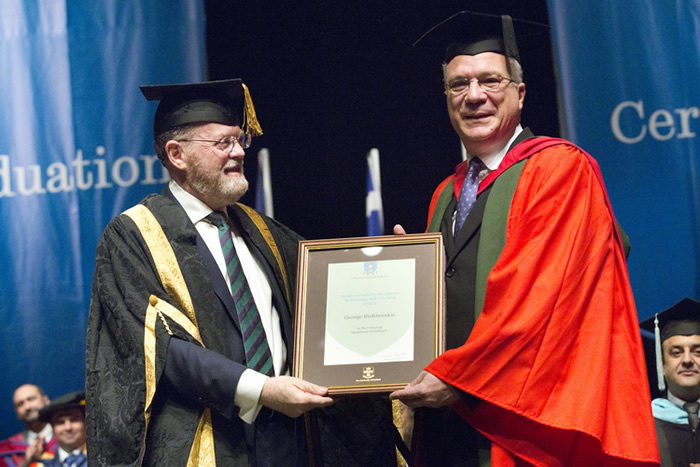 Dr George Eleftherakis and Mr Thanos Hatziapostolou were honoured to receive a 'Senate 'Award of Sustained Excellence in Learning and Teaching'