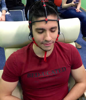 The Neurofeedback Lab includes state-of-the-art equipment to measure physiological responses