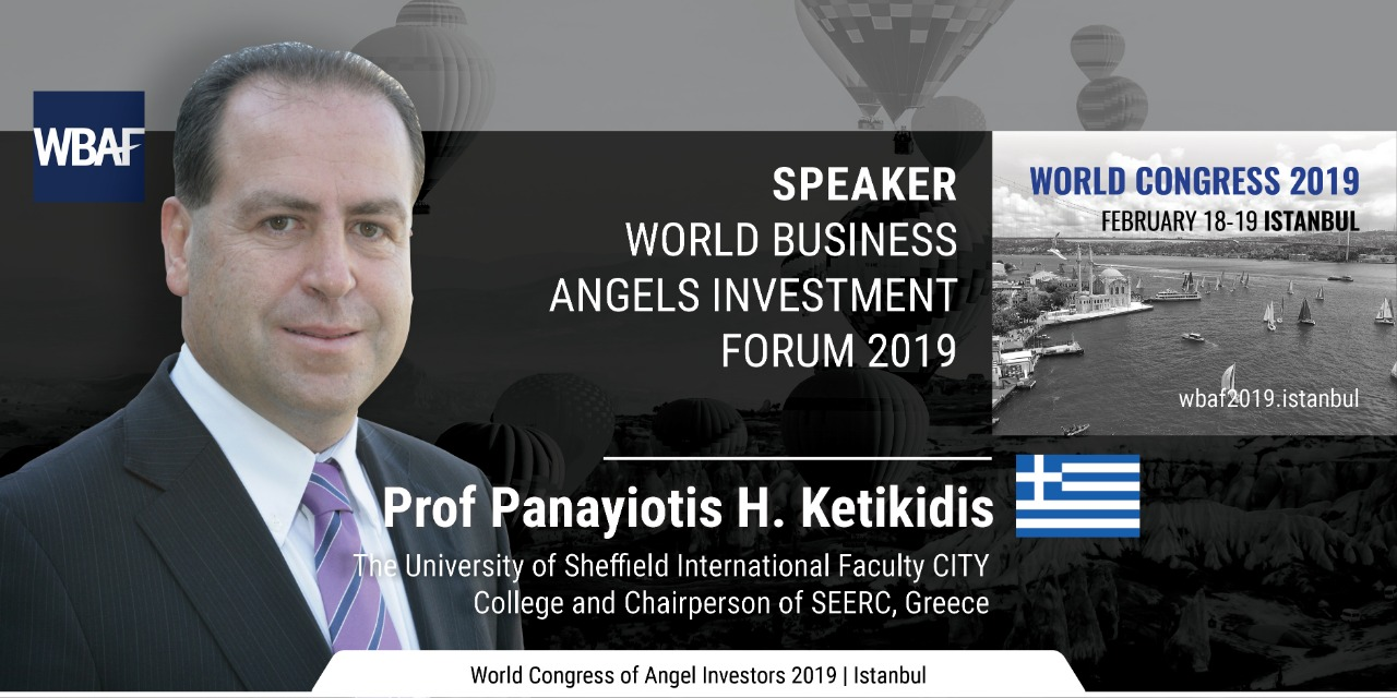 Prof. Panayiotis Ketikidis, Vice Principal for Research and Innovation at the International Faculty CITY College has been invited to participate as speaker in the World Business Angels Investment Forum 2019 in Istanbul