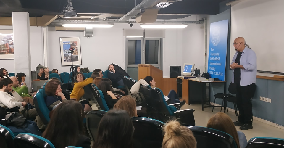 The second talk of the 'Psychology for All' series of the International Faculty's Psychology Department was delivered Mr Petros Theodorou, Gestalt Psychotherapist